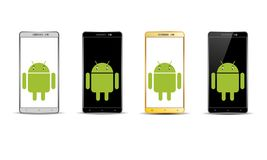 Android mobiltelefon royaltyfri fotografi