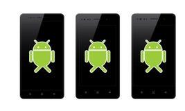 Android mobiltelefon stock illustrationer