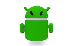 Android.  no fundo branco Foto de Stock Royalty Free
