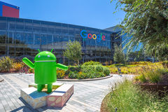 Android Nougat replica. Mountain View, California, USA - August 15, 2016: Android Nougat replica in front of Google office in Google headquarters building Stock Photos
