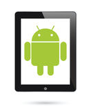 Android operating system for digital tablets. To illustrate Android as an operating system on digital tablets Royalty Free Stock Photos