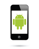 Android operating system for smartphones. To illustrate Android as an operating system on digital tablets Stock Photos