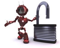 Android with padlock stock illustration