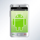Android phone. An illustration of a android mobile phone. An additional Vector .Eps file available. ( you can use elements separately vector illustration