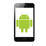 Android phone stock illustration