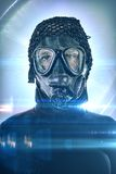Android portrait after Apocalypse Stock Image