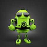 Android posing in sunglasses. Stock Image