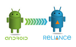 Android reliance. Logo and banner illustration Stock Photography