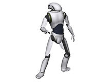 Android or robot. 3d illustration of android or robot isolated on white background Stock Photography