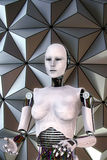 Android robot cyber female Stock Photo