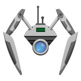 Android Robot with Glass Button and Pincer Hands Stock Images