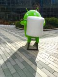 Android robot. In Google campus, statue Royalty Free Stock Image
