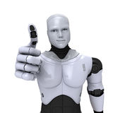 Android Robot with thumb up Royalty Free Stock Photography