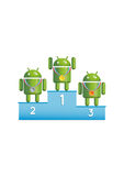 Android robots podium winners Royalty Free Stock Photo