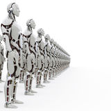 Android's rank2. Rank consisting of identical androids Stock Photos