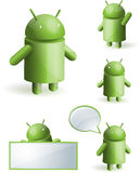 Android set collection Royalty Free Stock Images