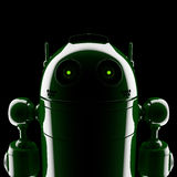 Android silhouette Royalty Free Stock Image