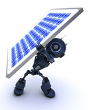 Android with a solar panel Stock Photos