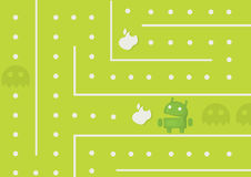Android-Spiel stock abbildung