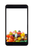 Android tablet with jelly bean Stock Photo