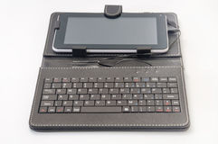 Android tablet with a keyboard Royalty Free Stock Photo
