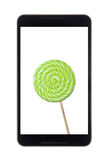 Android tablet with lollipop Royalty Free Stock Photos