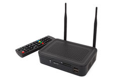 Android TV set top box receiver Stock Image