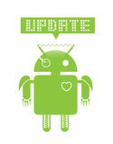 Android update. Android operating system update image Stock Photo