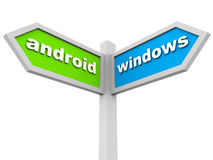 Android vs windows Royalty Free Stock Photography
