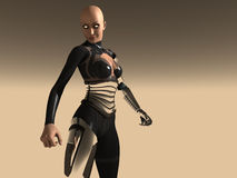 Android woman. 3d render of female android Royalty Free Stock Photos