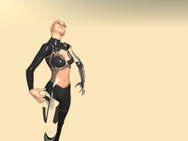 Android woman. 3d render of female android Royalty Free Stock Images