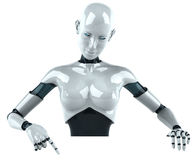 Android woman Royalty Free Stock Photos