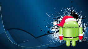 Android xmas background. For your text Royalty Free Stock Images