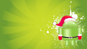 Android xmas background. For your business Royalty Free Stock Photography