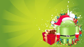 Android xmas background. For your advert messge Royalty Free Stock Photography