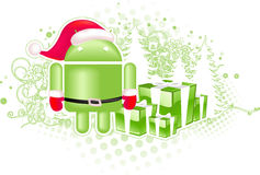 Android xmas logo Royalty Free Stock Photo
