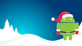 Android xmas theme background Stock Photo