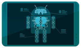 Android on Xray. Android on the Xray device Stock Images