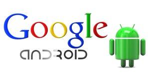 Androide de Google Imagen de archivo libre de regalías