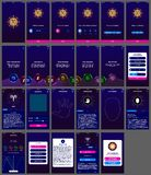 Androide do app do projeto do ui do horóscopo ilustração do vetor