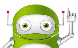 Androide do personagem de banda desenhada Imagens de Stock