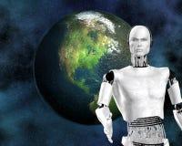 Androide, kybernetische Intelligenz Lizenzfreies Stockbild
