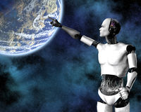 Androide, kybernetische Intelligenz Stockfotografie
