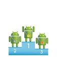Androide Roboterpodiumsieger Lizenzfreies Stockfoto