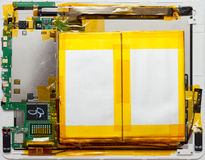 Androide Tablette auseinandergebaut Lizenzfreies Stockbild