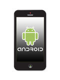 Androiden marknadsför Arkivbilder