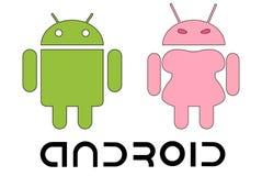 Androides Logo lizenzfreie abbildung
