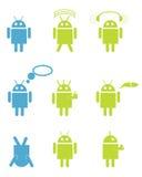Androidrobotar vektor illustrationer