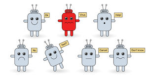 androids inställt tecken Fotografering för Bildbyråer
