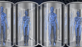 Androids in storage Royalty Free Stock Photography
